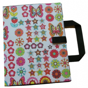 Bifold Communication Folder A4+ Butterflies and Flowers